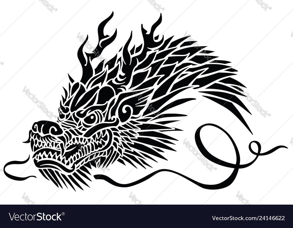 Head of asian dragon