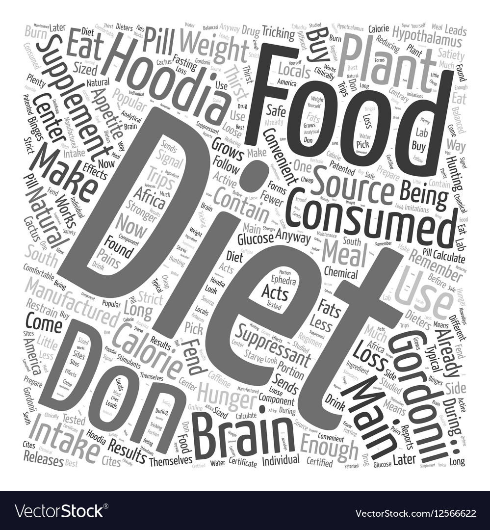 Hoodia diet supplement Word Cloud Concept