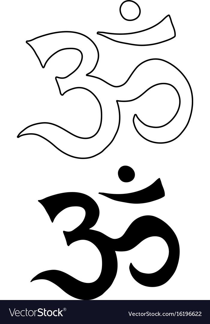 Om Symbol Aum Ohm Hand Drawn Tattoo Art Royalty Free Vector