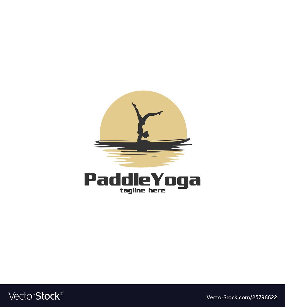 Paddle yoga silhouette logo