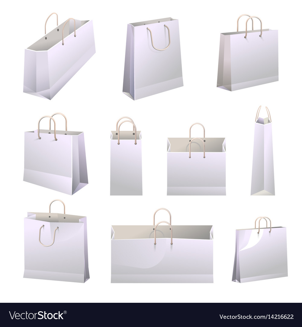 Paper Ping Bags With Handles Collections On