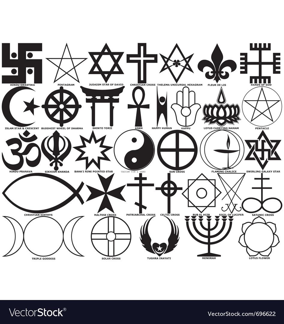 Religious Symbols Royalty Free Vector Image Vectorstock