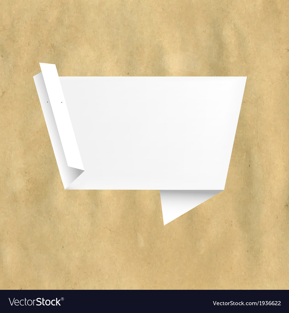 Retro Paper With White Origami vector image