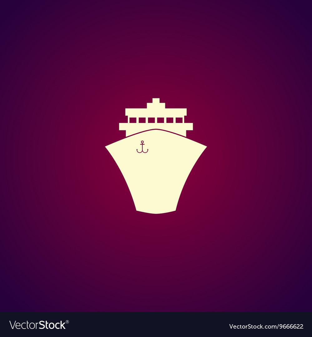 Ship icon Flat design style