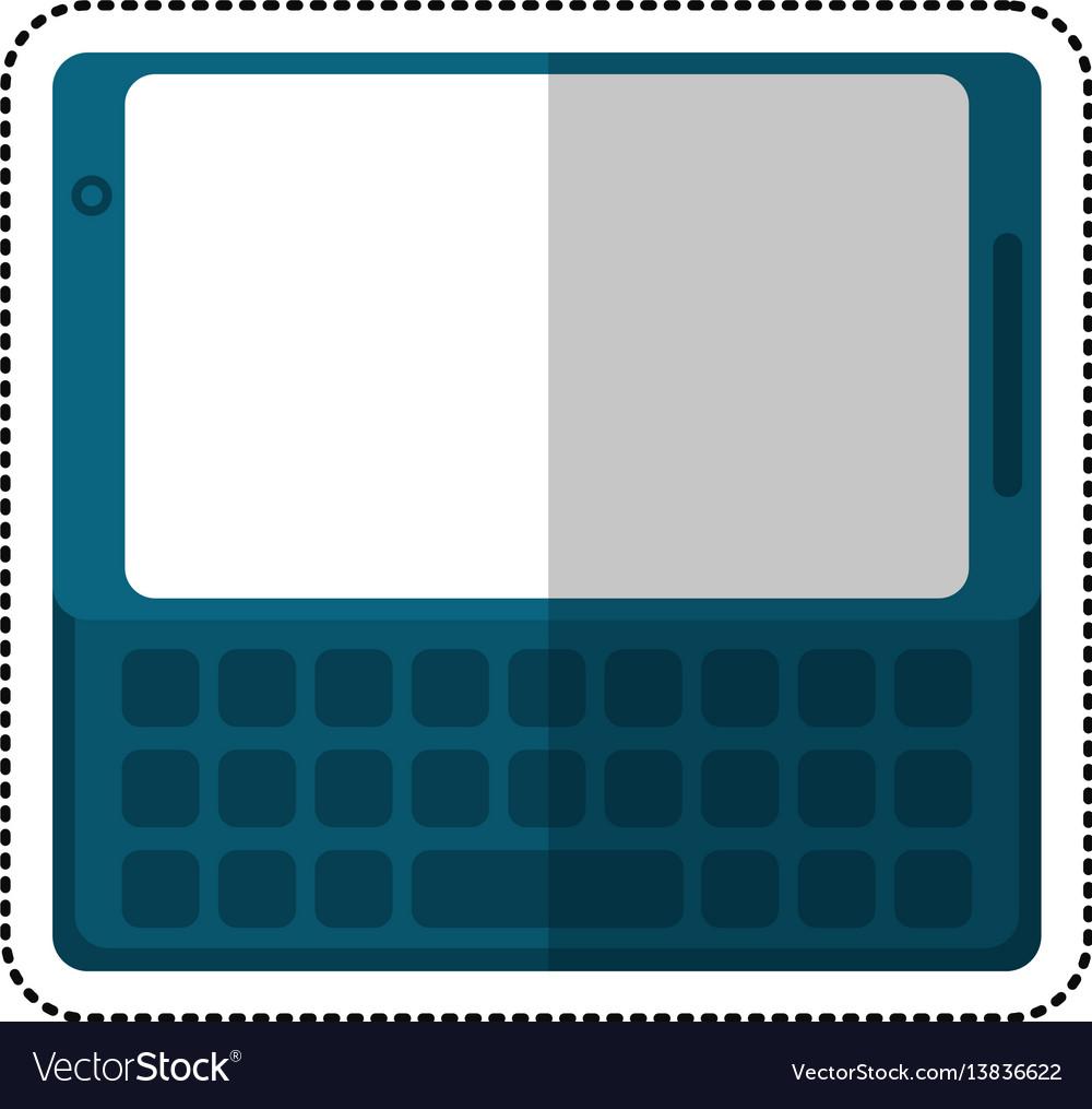 Smartphone mobile technology keyboard shadow
