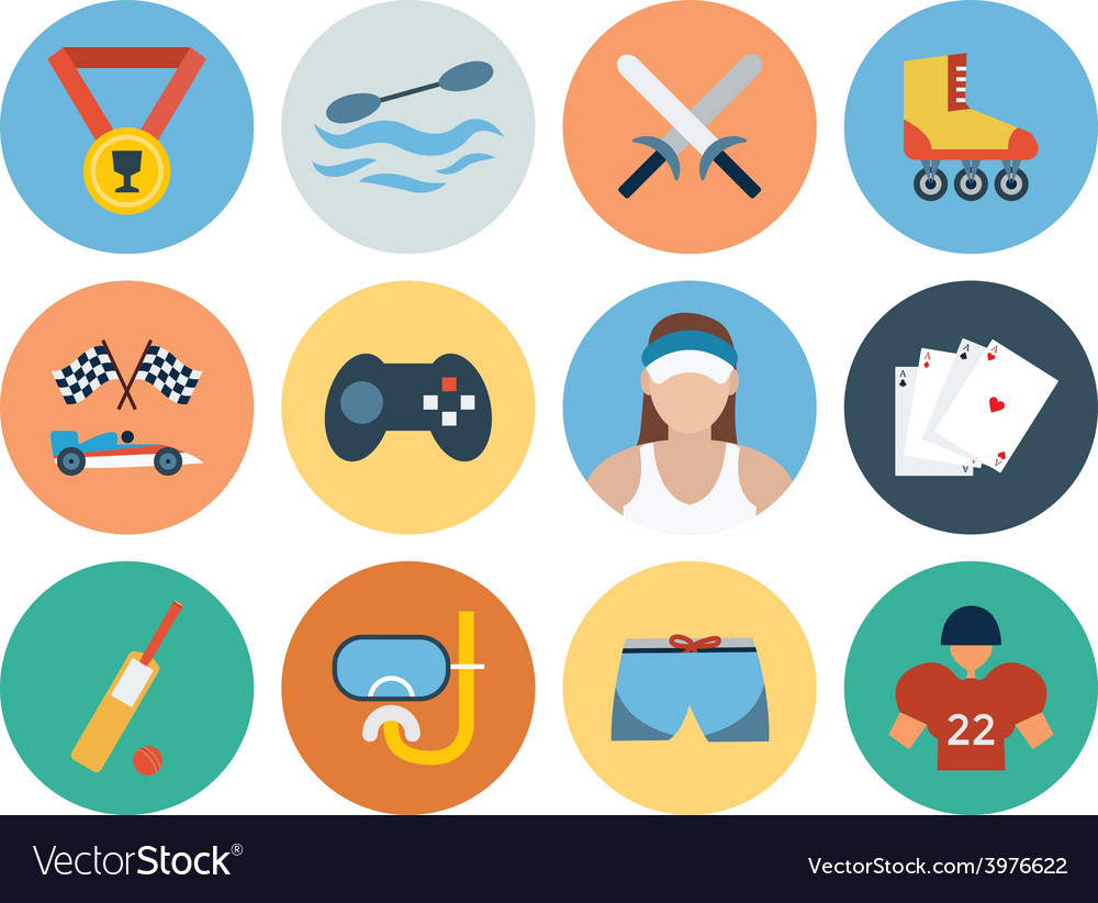 Sports Flat Icons - Vol 5 vector image