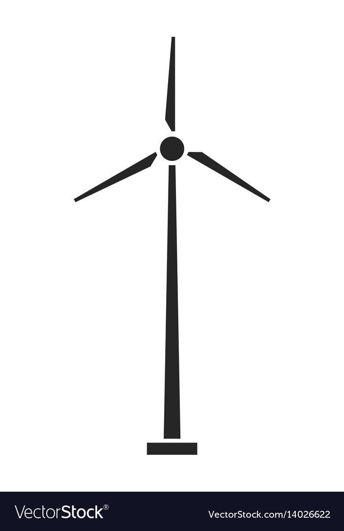 Wind turbine source of energy flat icon
