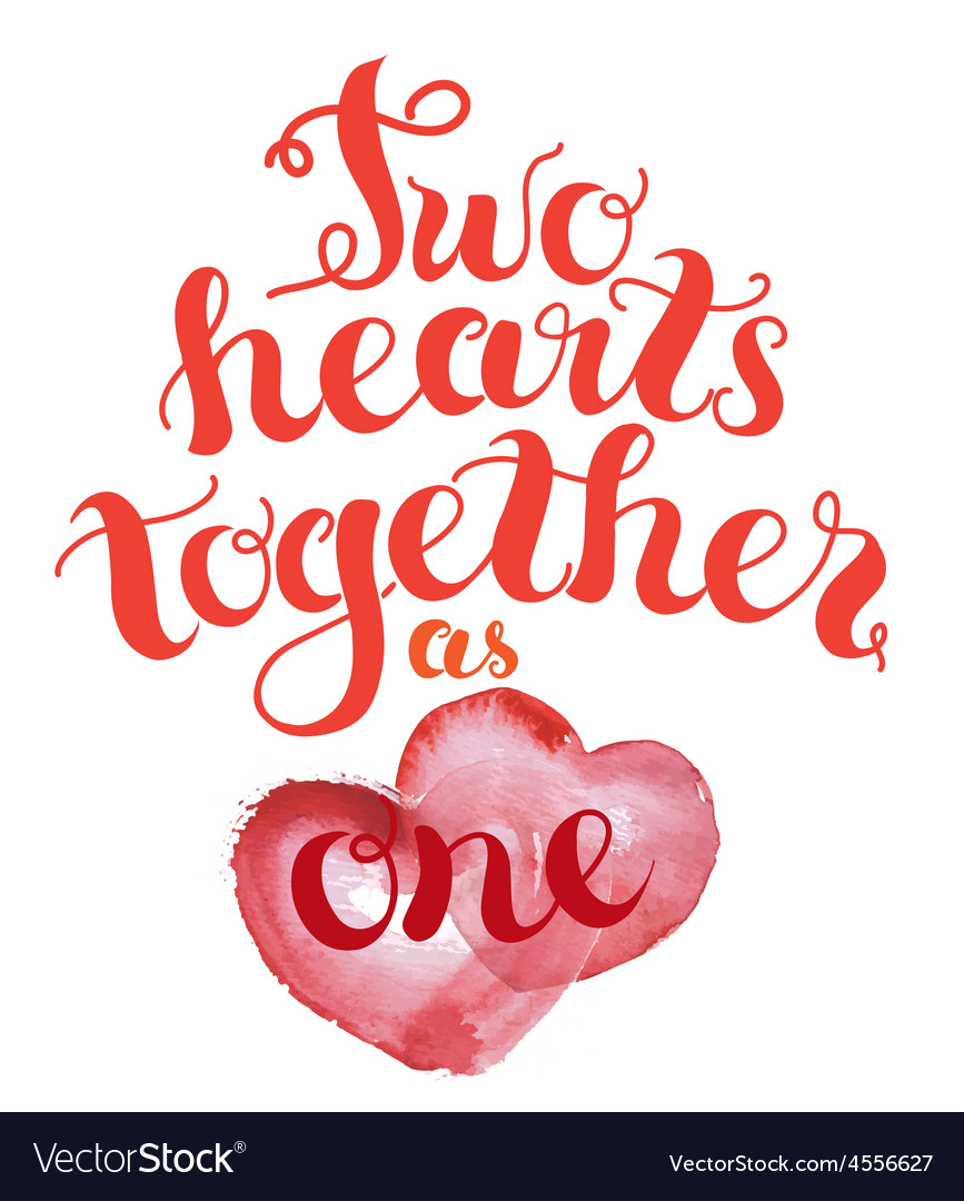 2 hearts together