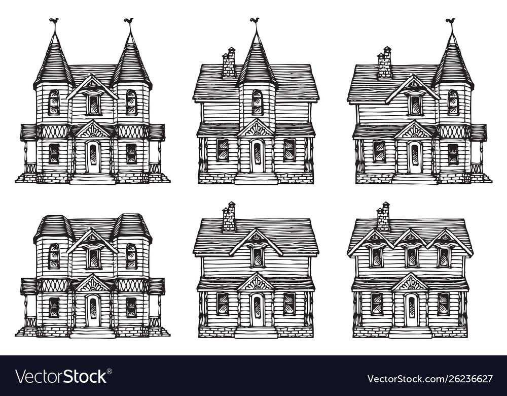 A hand-drawn house set in a cute cartoon style