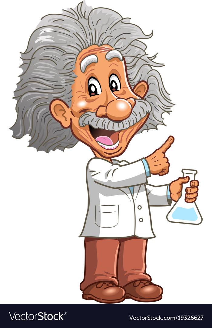 Albert einstein professor genius scientist vector image