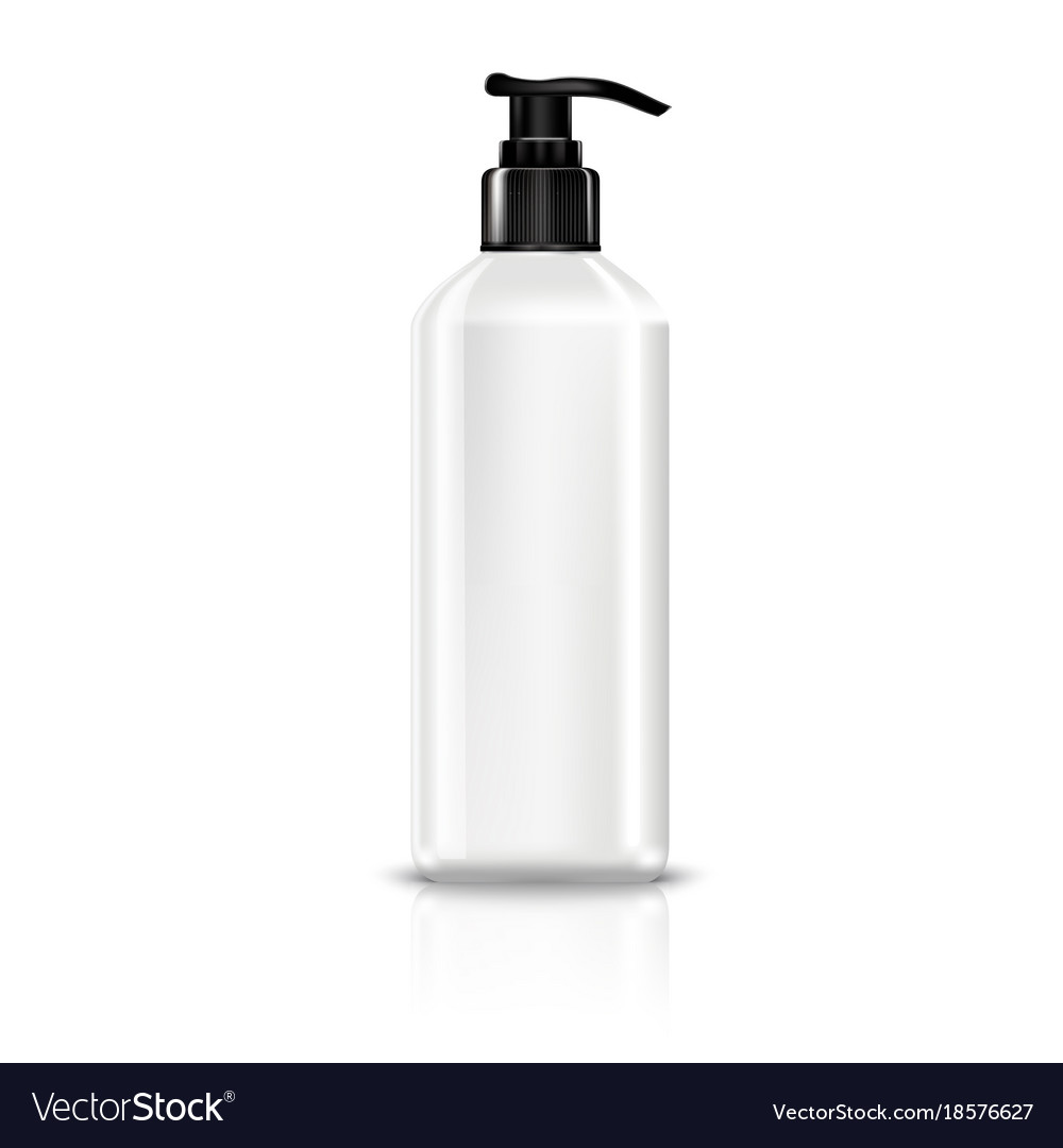 Dispenser Pump Plastic Bottle White Vector Image