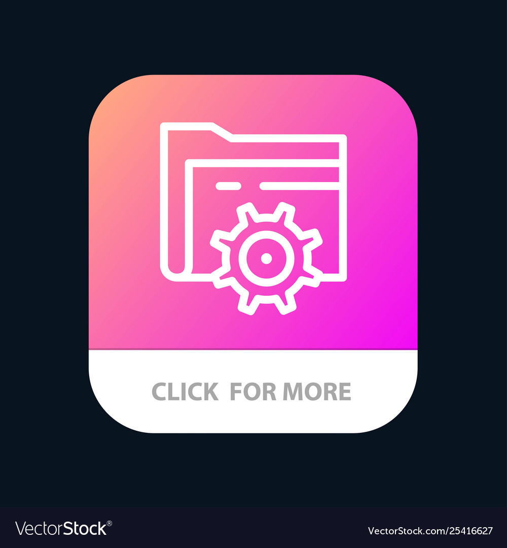 Folder setting gear computing mobile app button