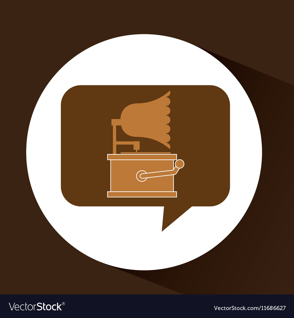 Gramophone vintage symbol icon
