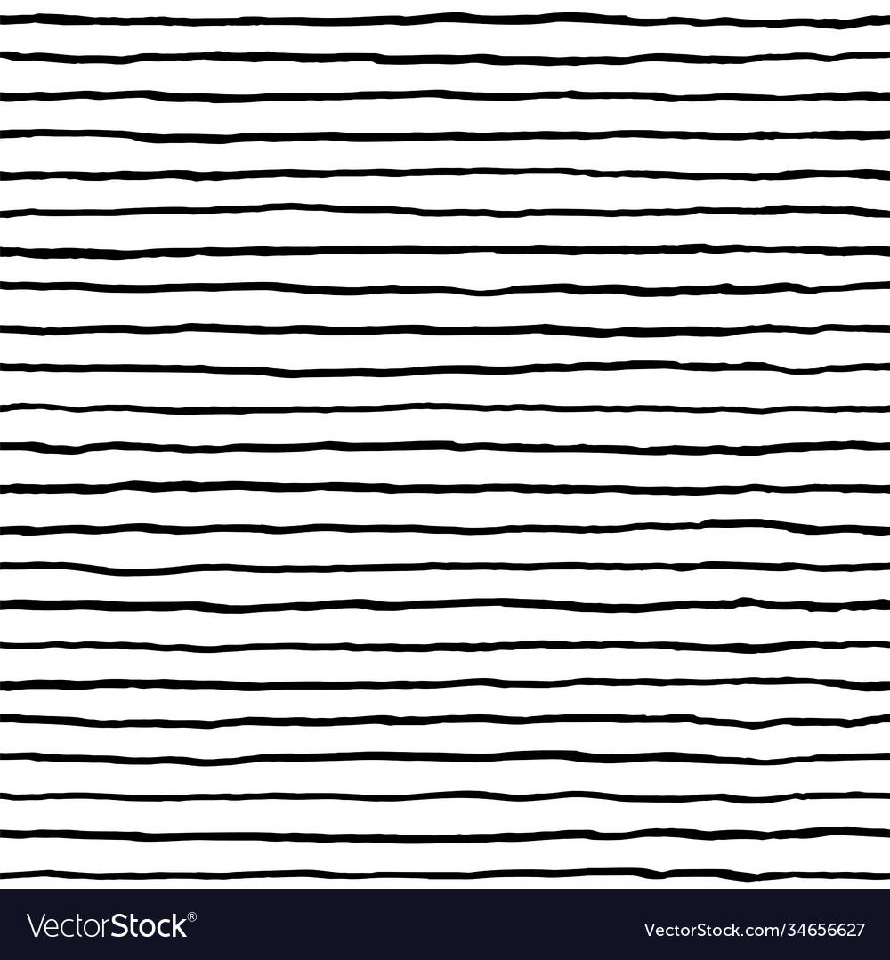 Hand drawn stripe seamless pattern doodle black