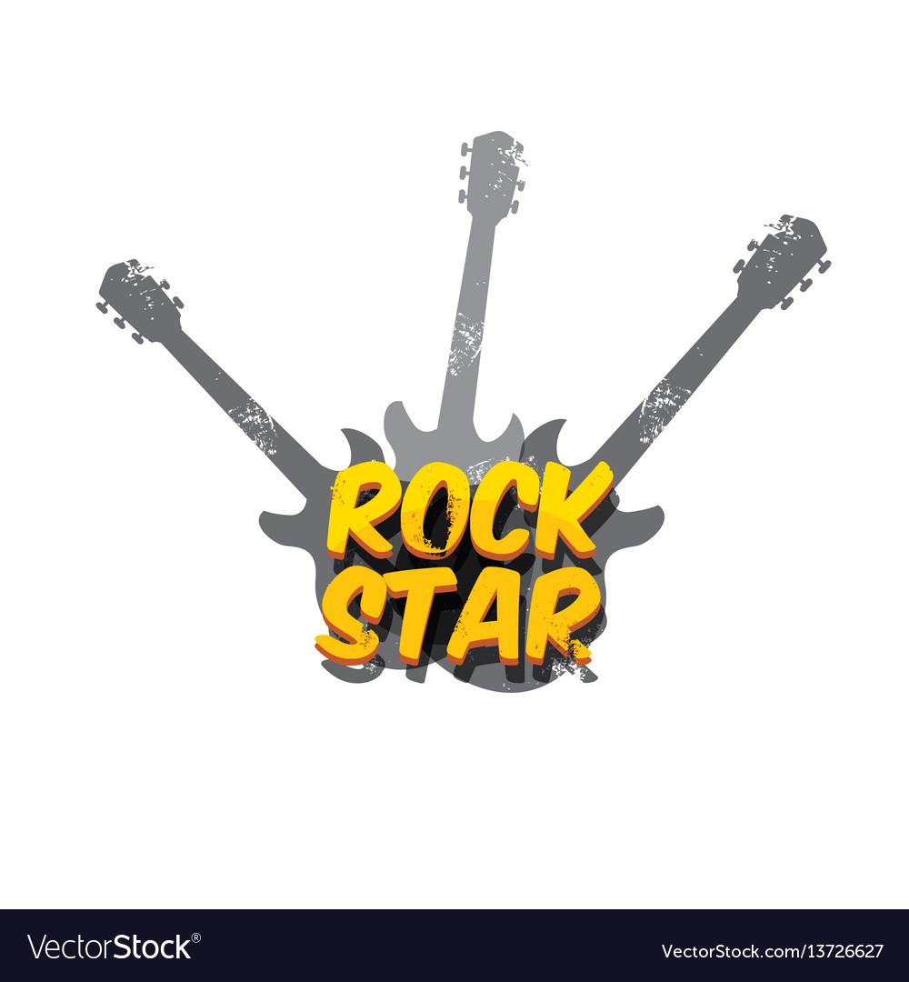 Hipster cartoon retro label rock star