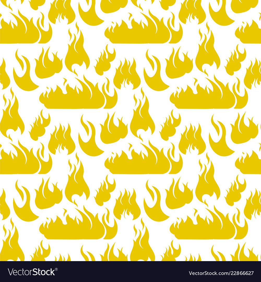 Image pattern set fire flame silhouettes