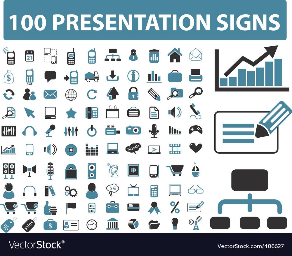 presentation icons royalty free vector image vectorstock