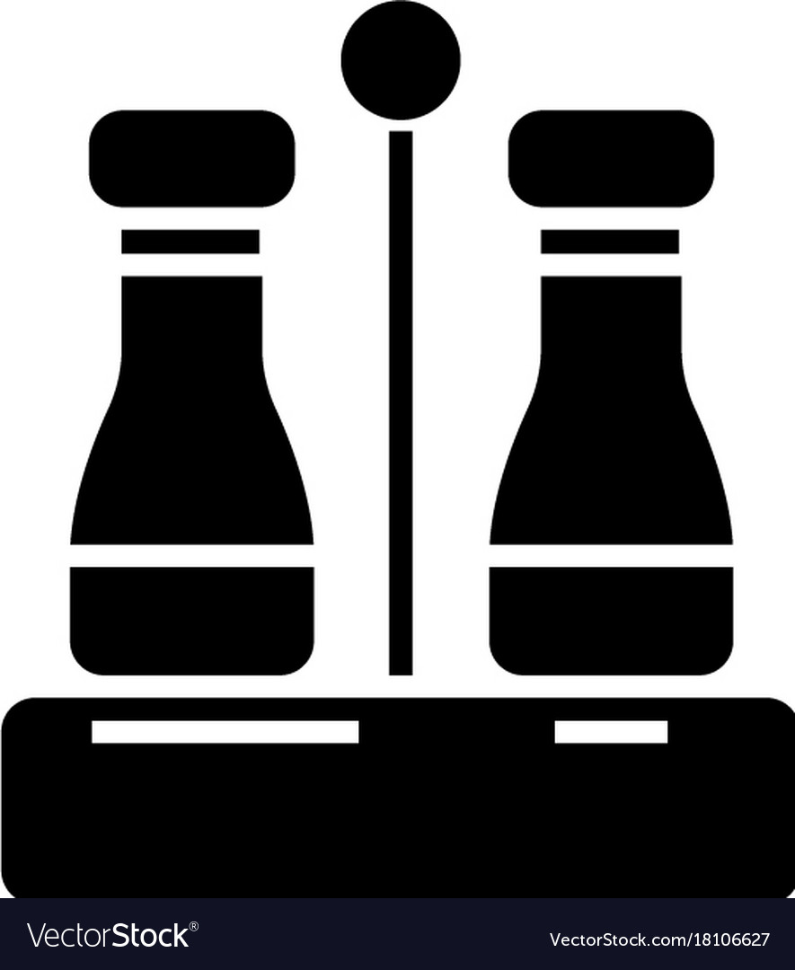 Seasoning - salt and pepper icon