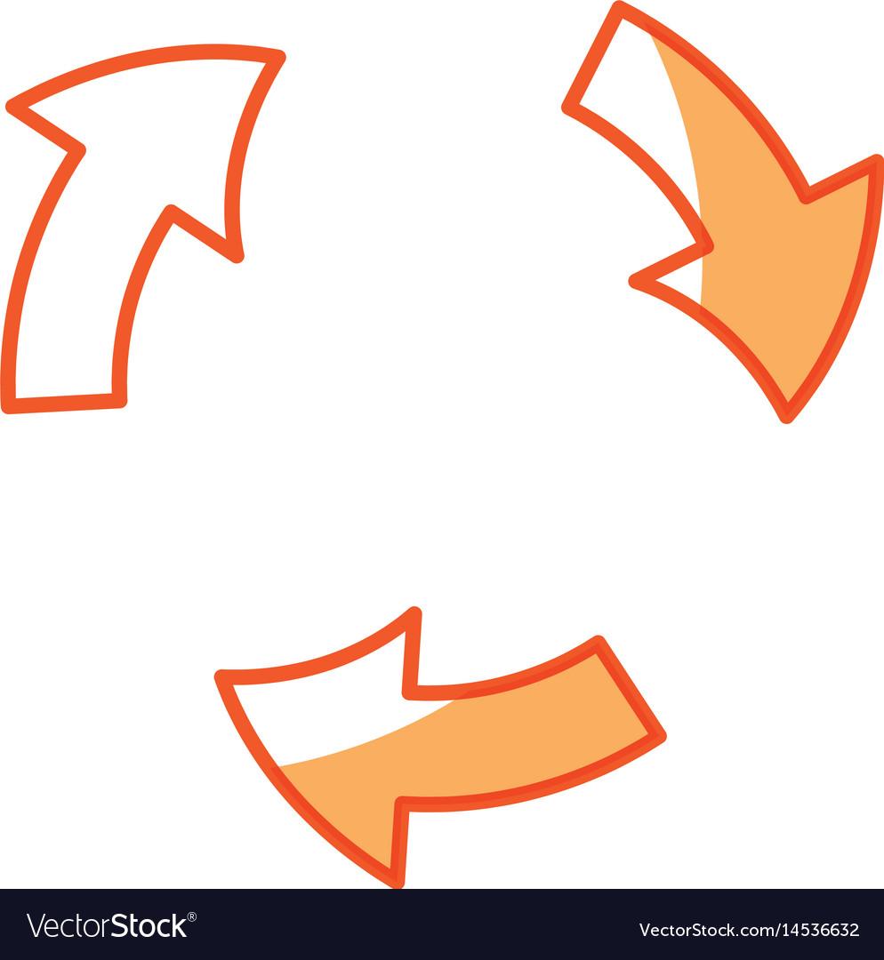 Arrows rotation process symbol design