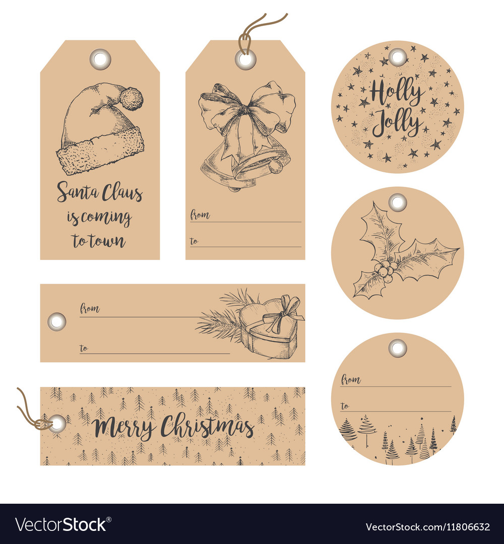 Christmas tags collection