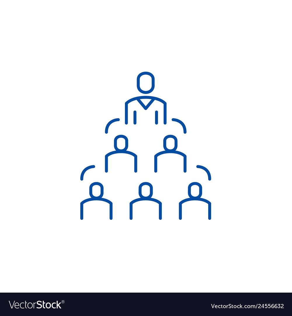 Company structure line icon concept company