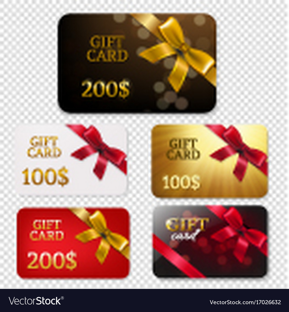 Gift card with bows big set