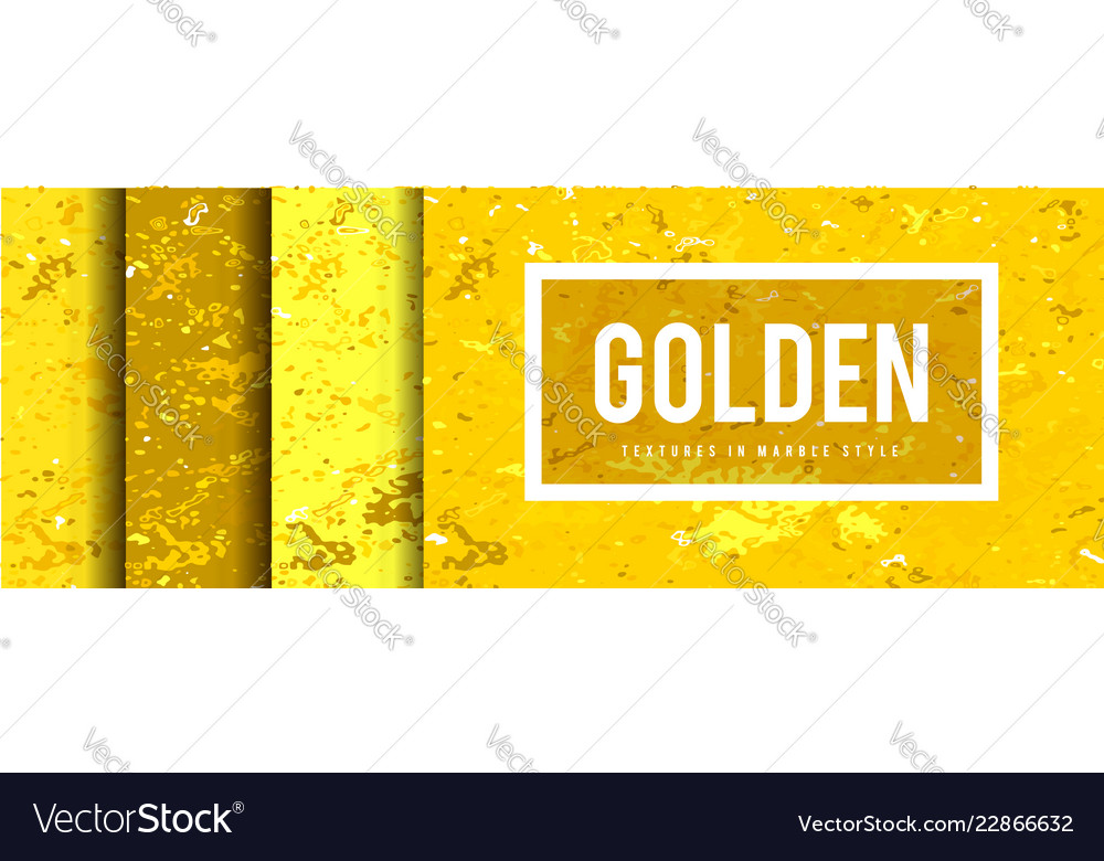 Golden marble style background set