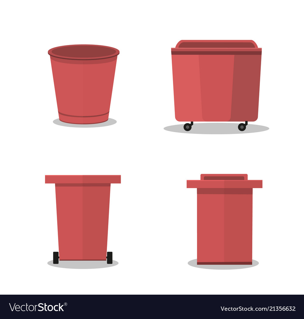 Outdoor garbage container red