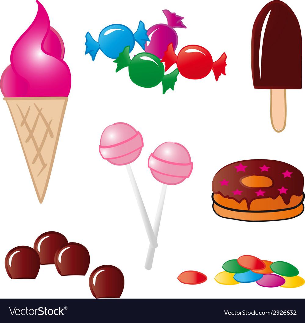 Sweet Food vector image