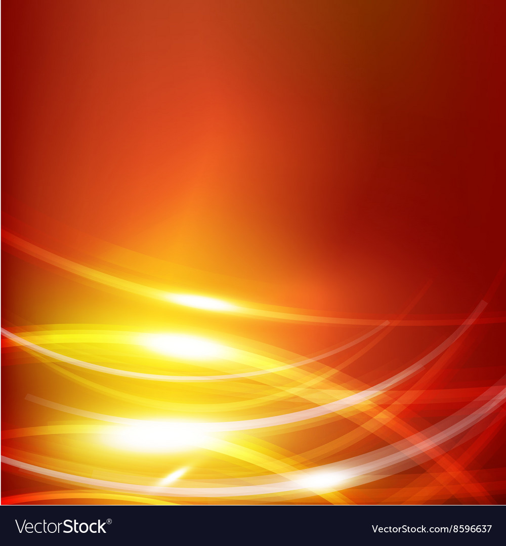 Abstract Dark Orange Background With Lighting