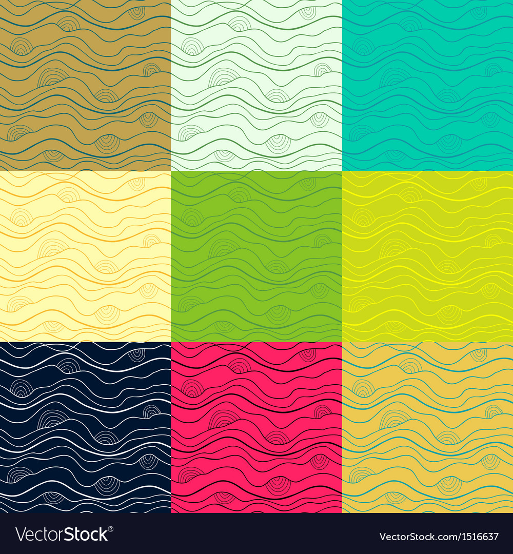 Big set of abstract doodle seamless patterns vector image
