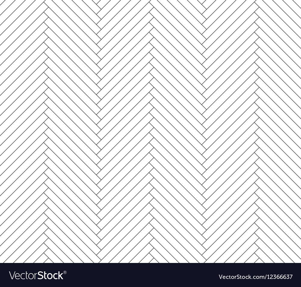 Black and white parquet pattern