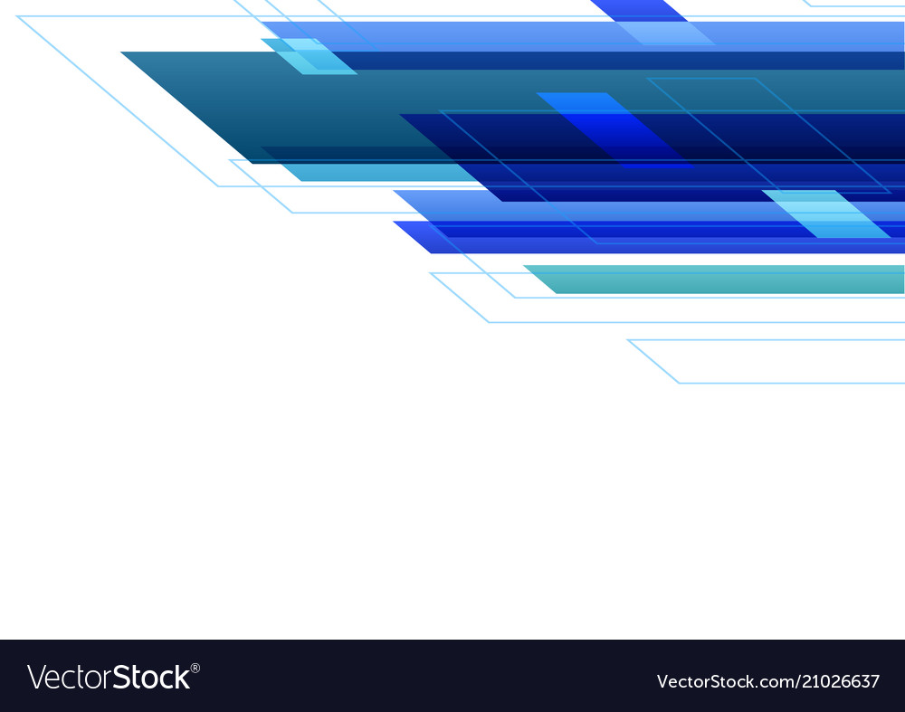 Blue tone abstract white background vector image