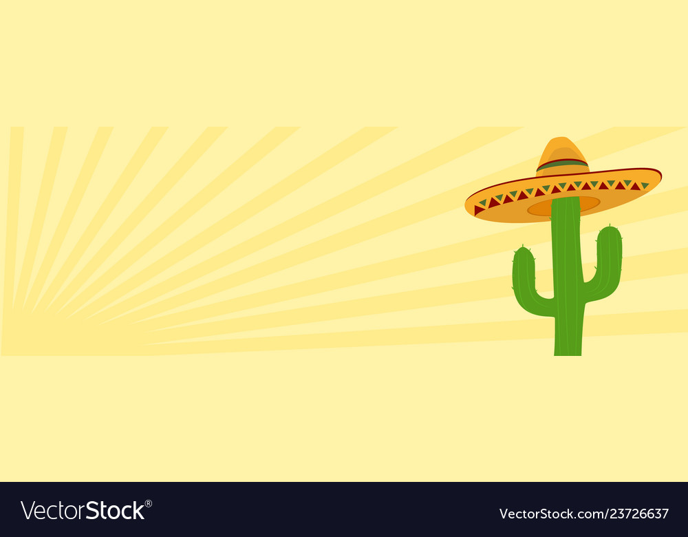 Cactus in desert sunrise sunset scene banner