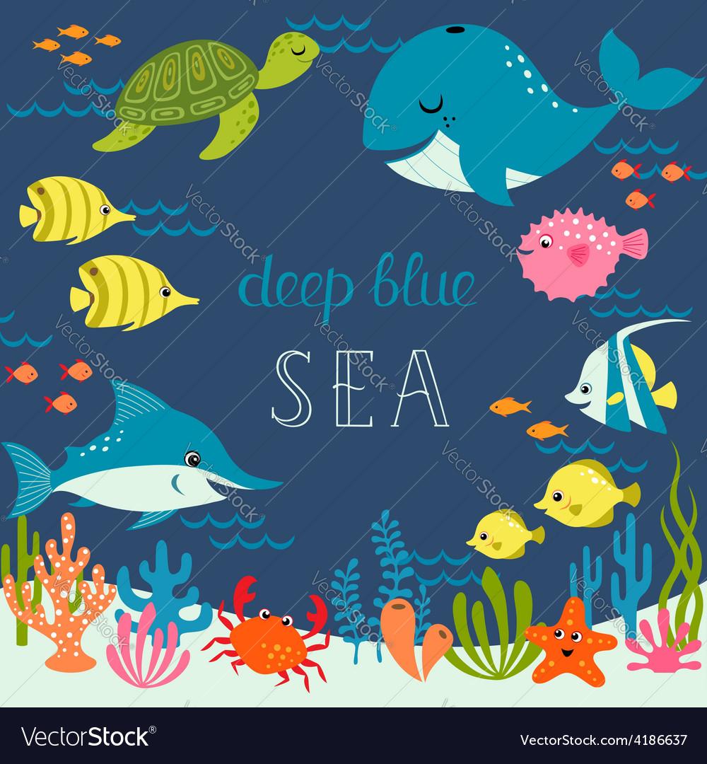 Cute deep blue sea