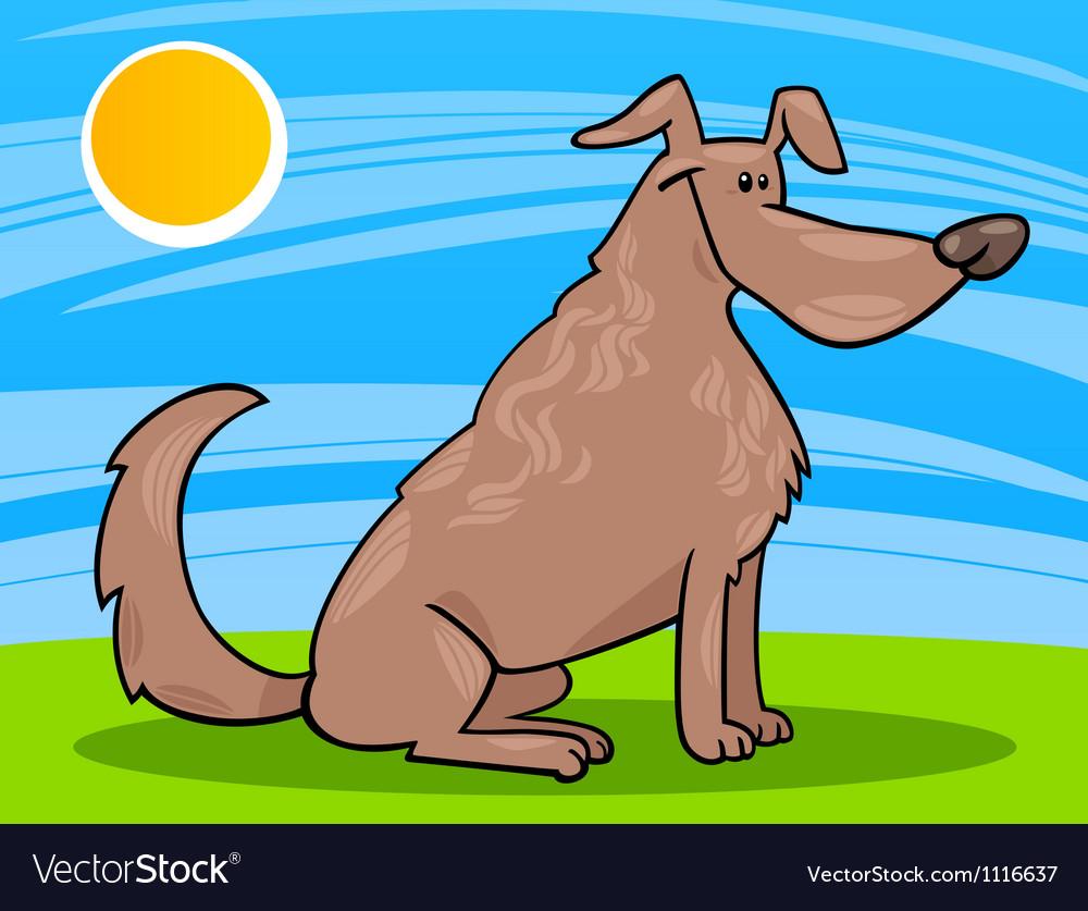 Cute sitting dog cartoon
