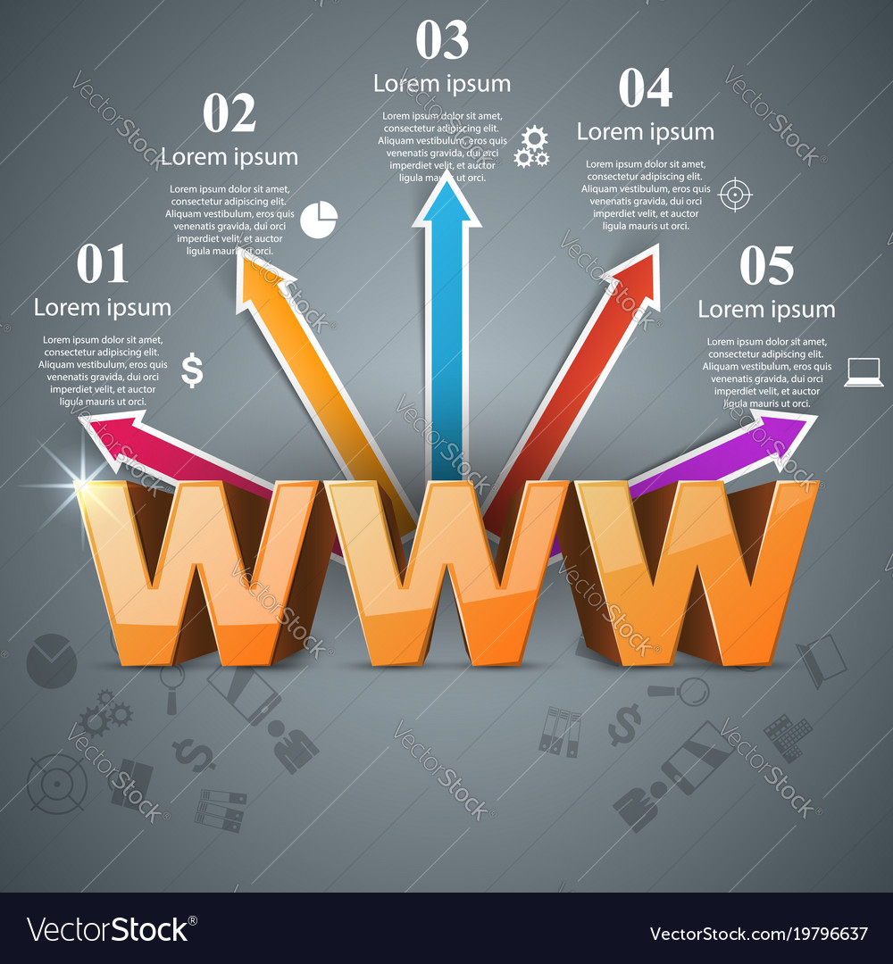 Internet 3d abstract icon