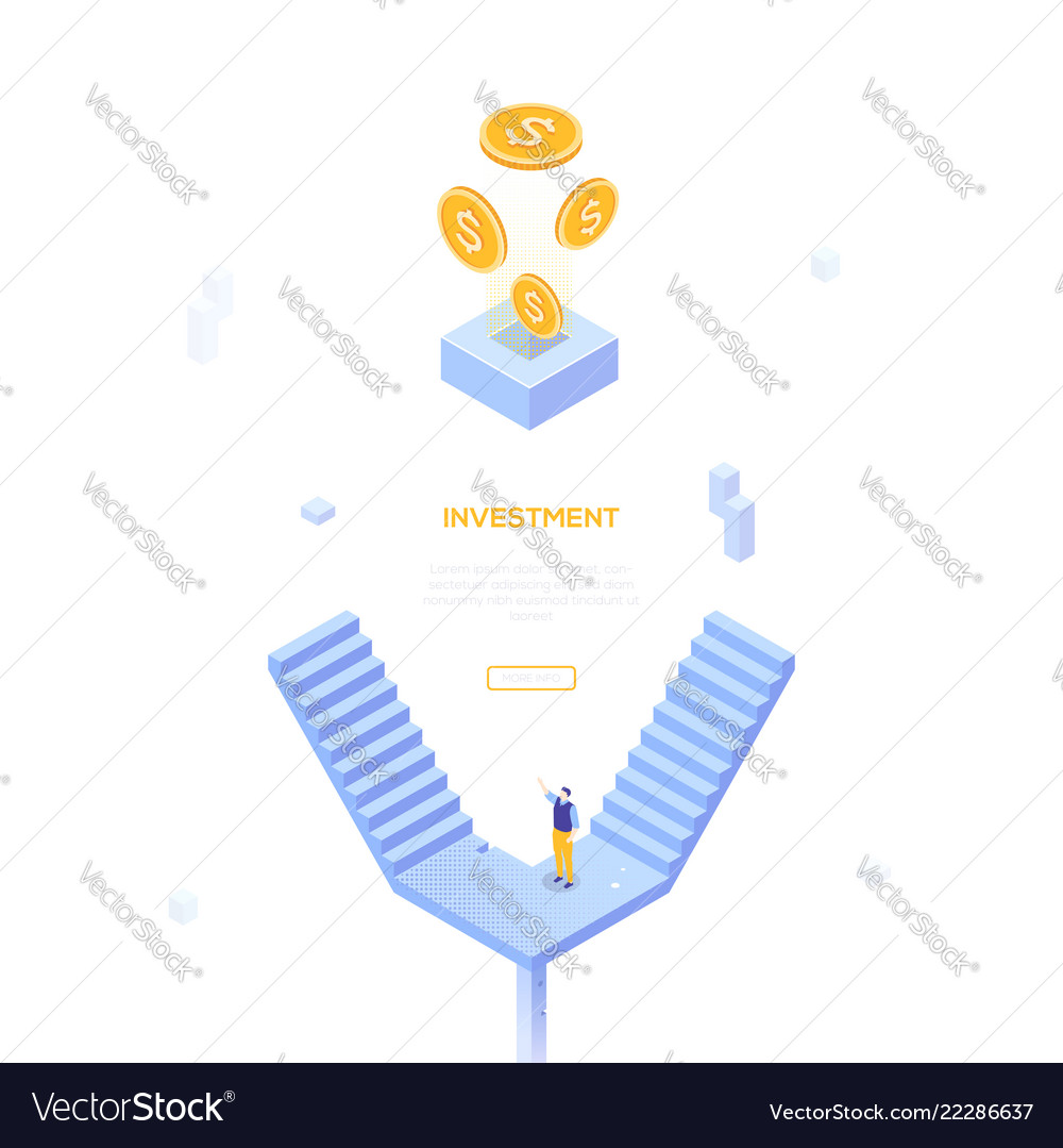 Investment concept - modern isometric web