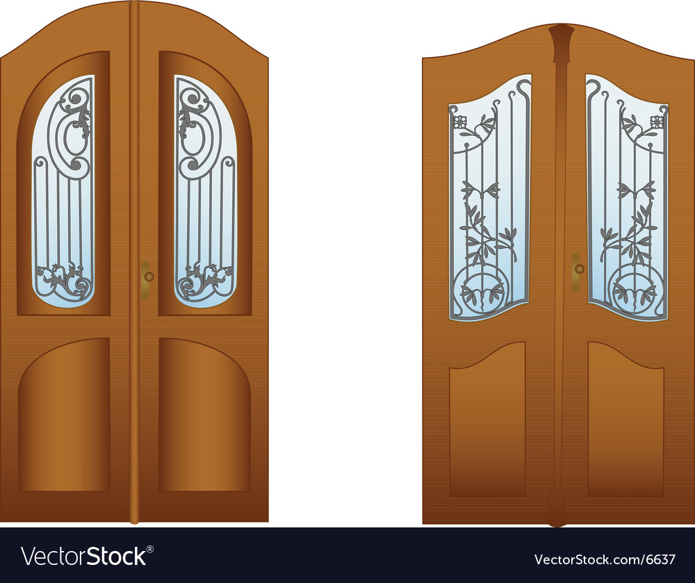 Lattice doors vector image & Lattice doors Royalty Free Vector Image - VectorStock