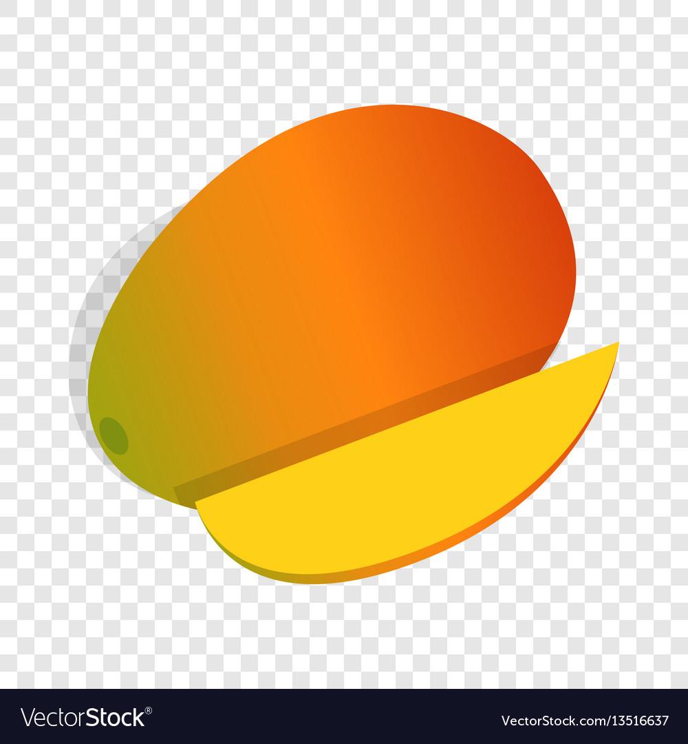 Mango fruit isometric icon vector image