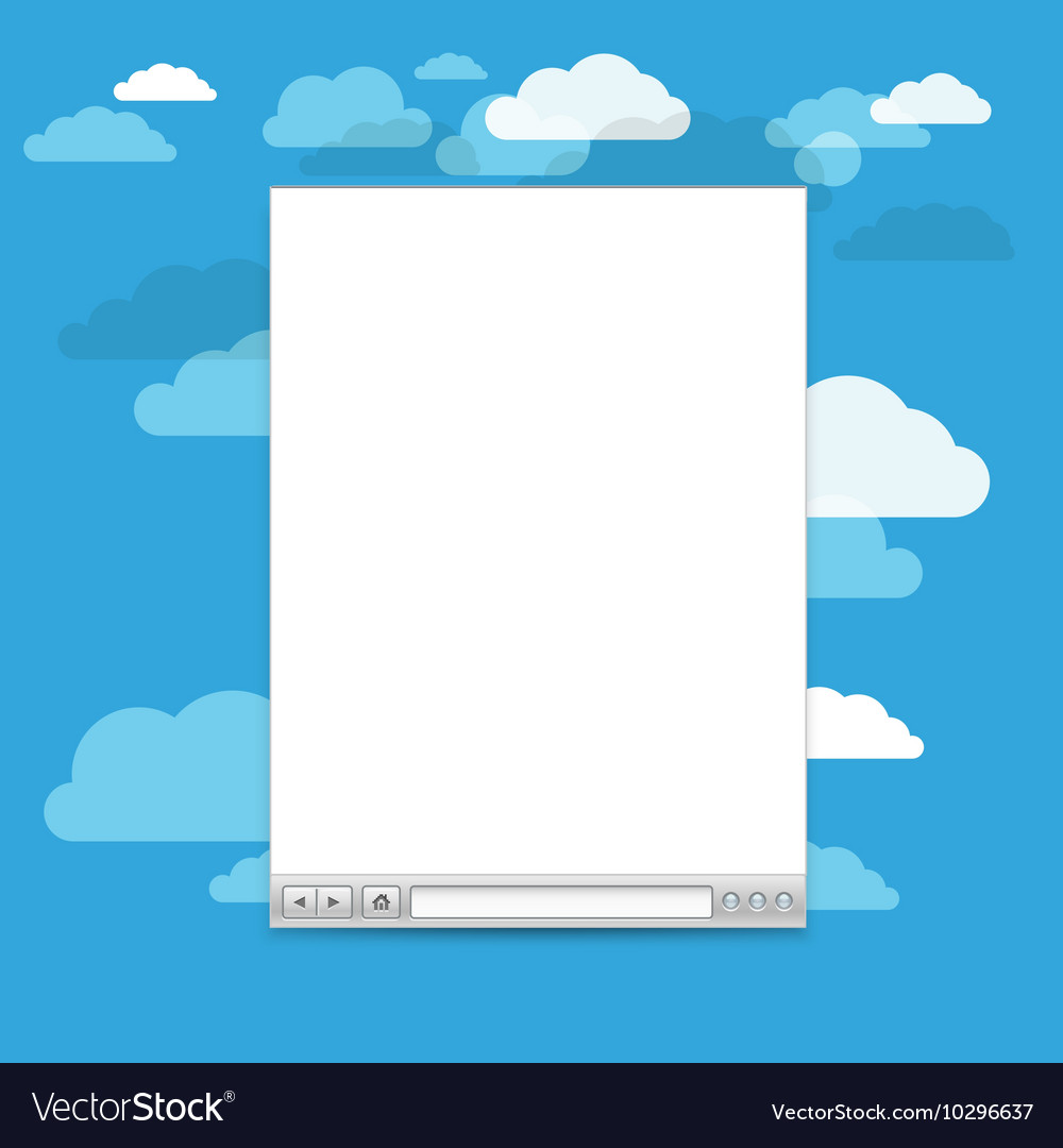 Opened browser windows template Past your content vector image