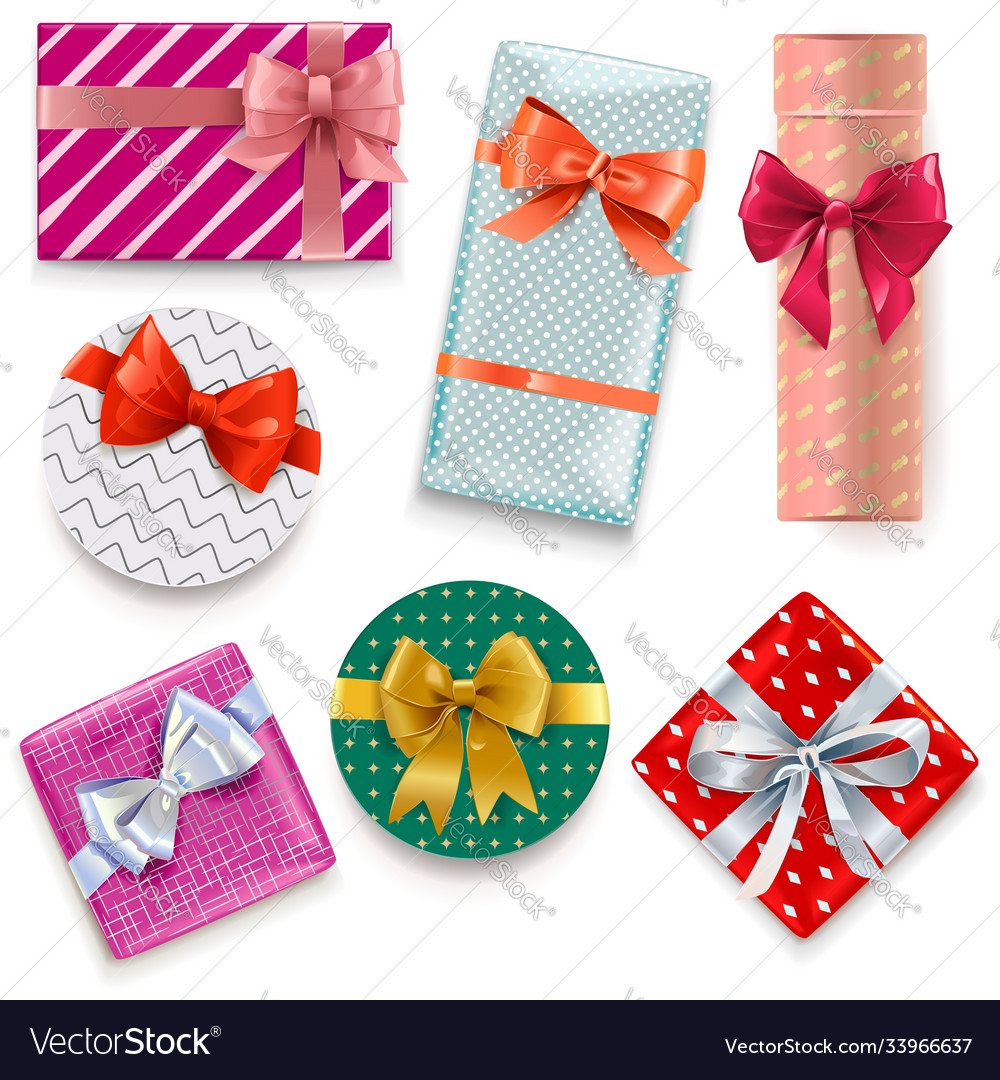 Patterned gift boxes