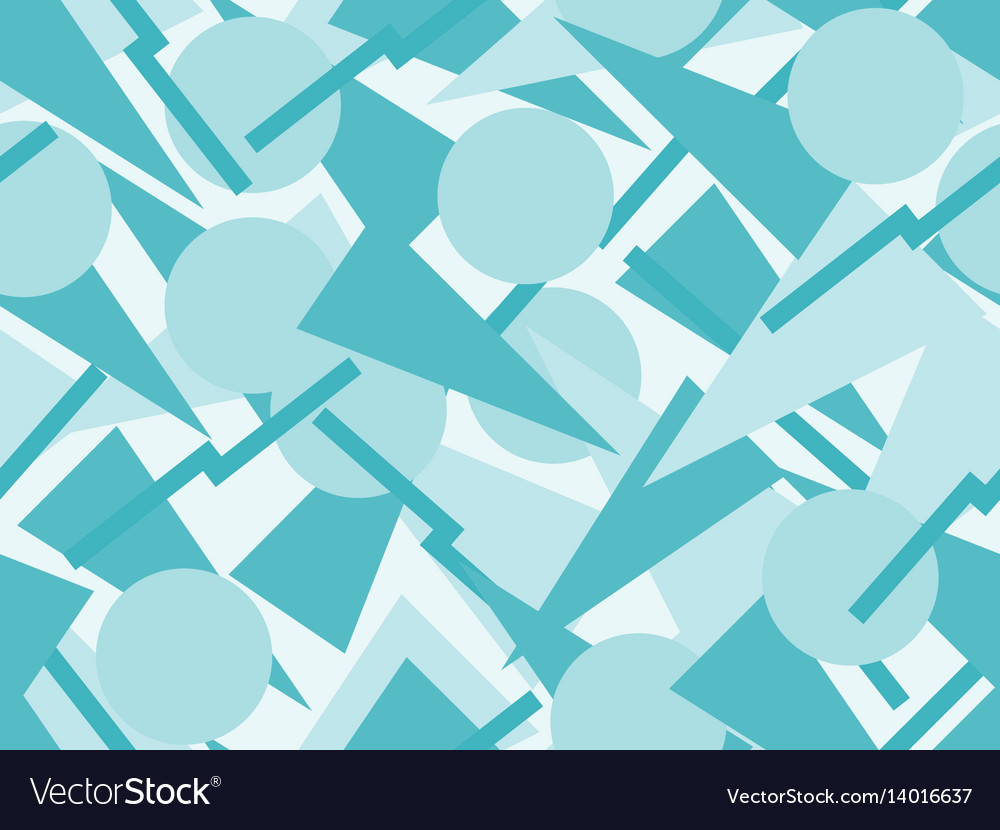 Seamless pattern with triangles and circles