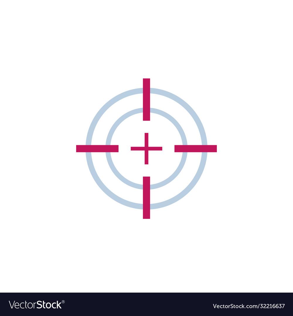 Target aim or crosshair icon