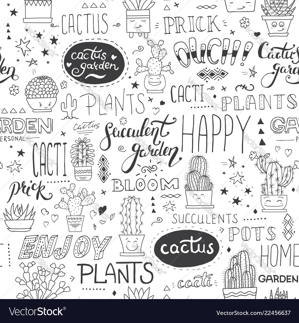 Typographical seamless pattern