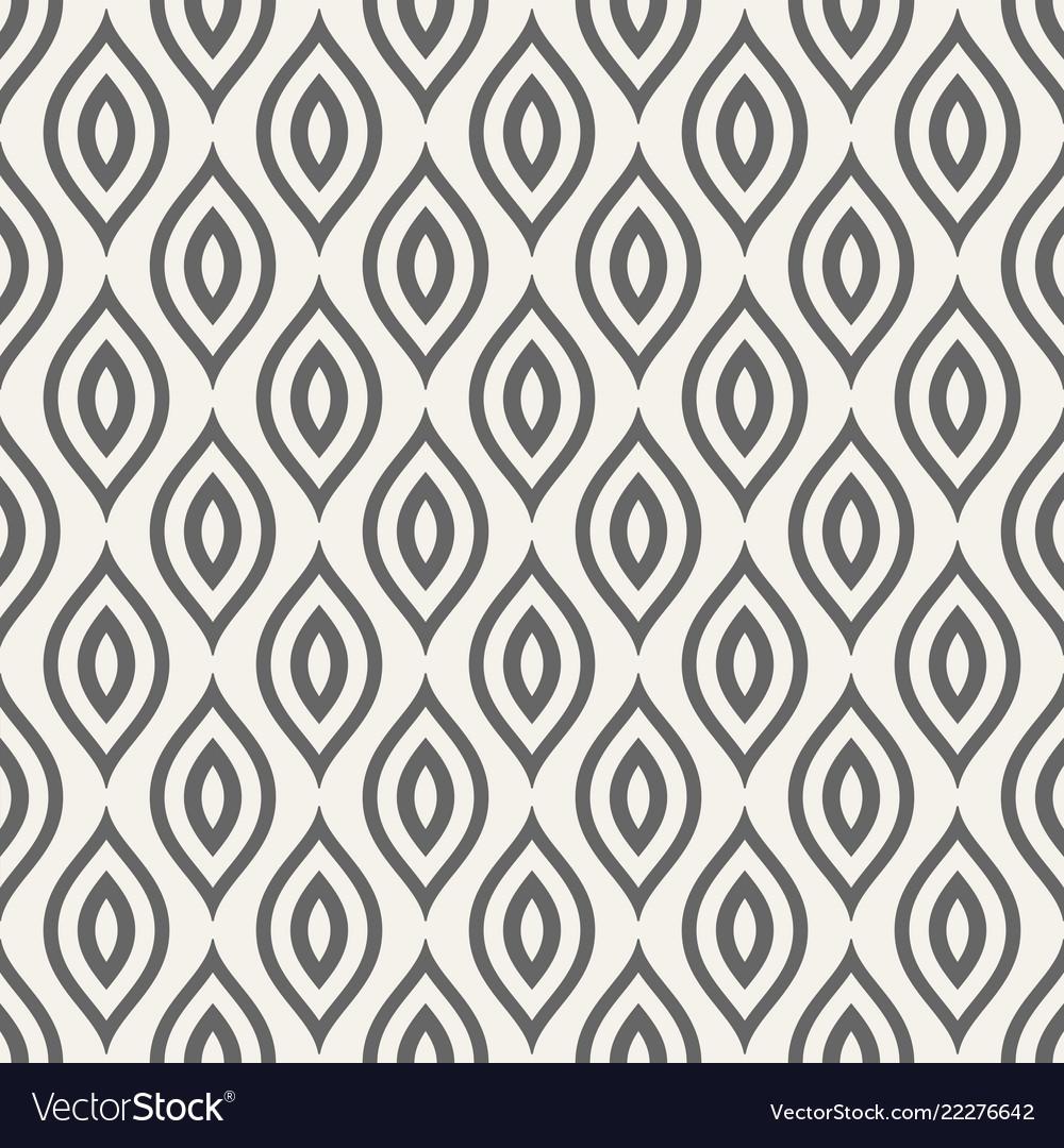 Abstract seamless pattern of stylized bird