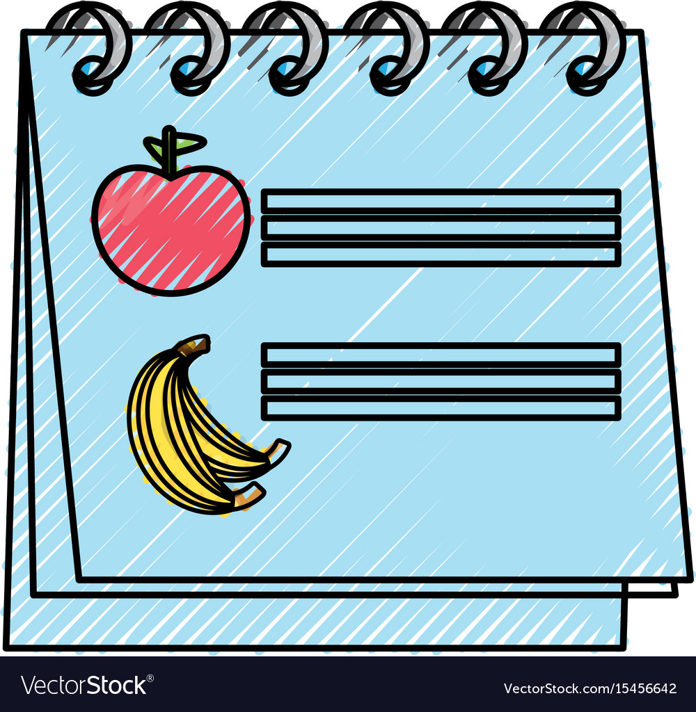 Calendar nutrition plan vector image