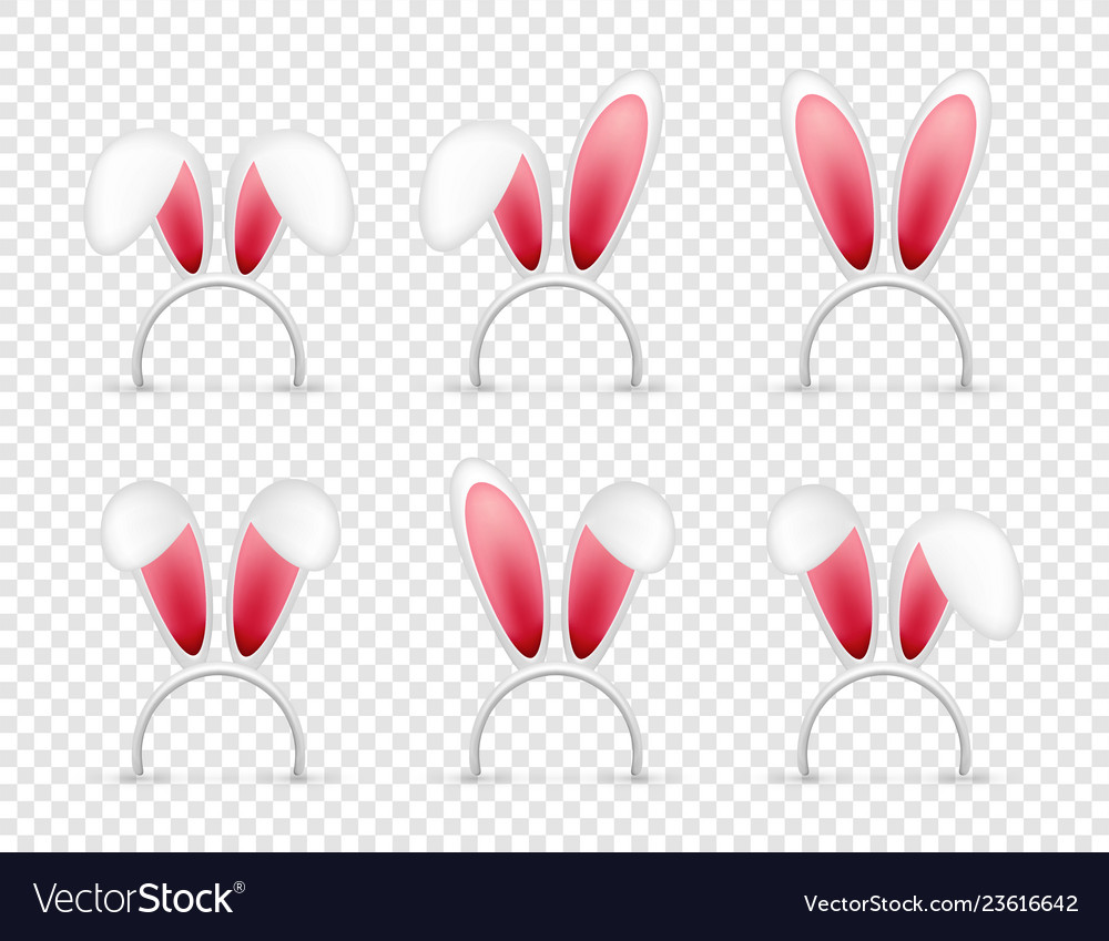 Easter bunny ears pink and white mask with rabbit
