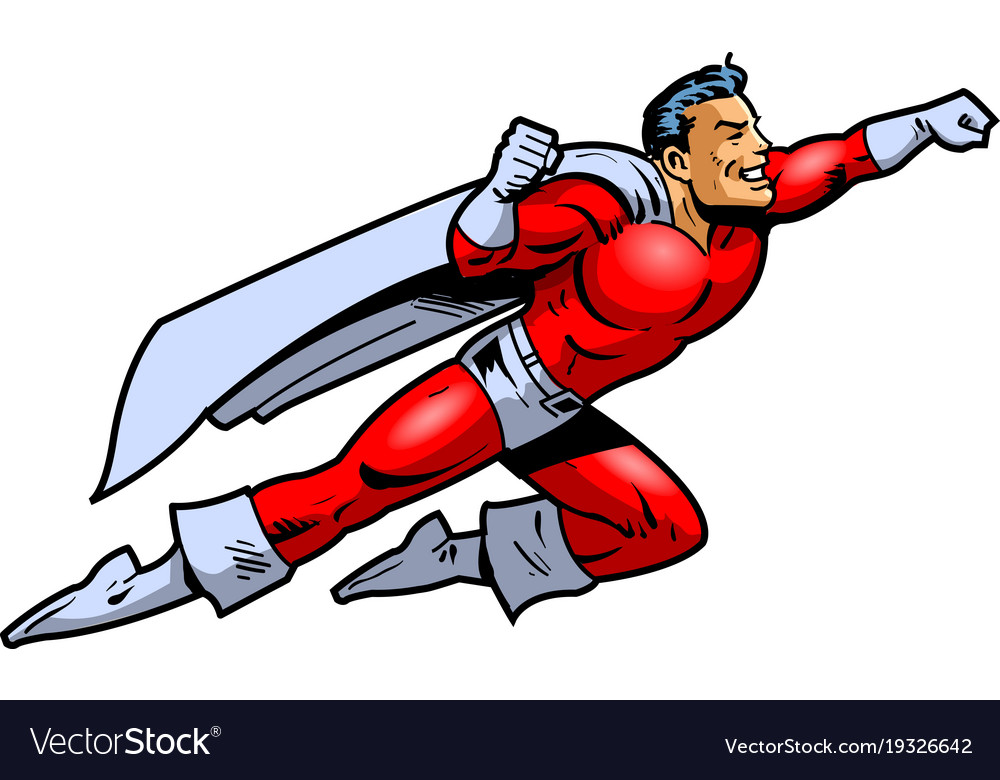 cartoon superhero flying fandifavicom