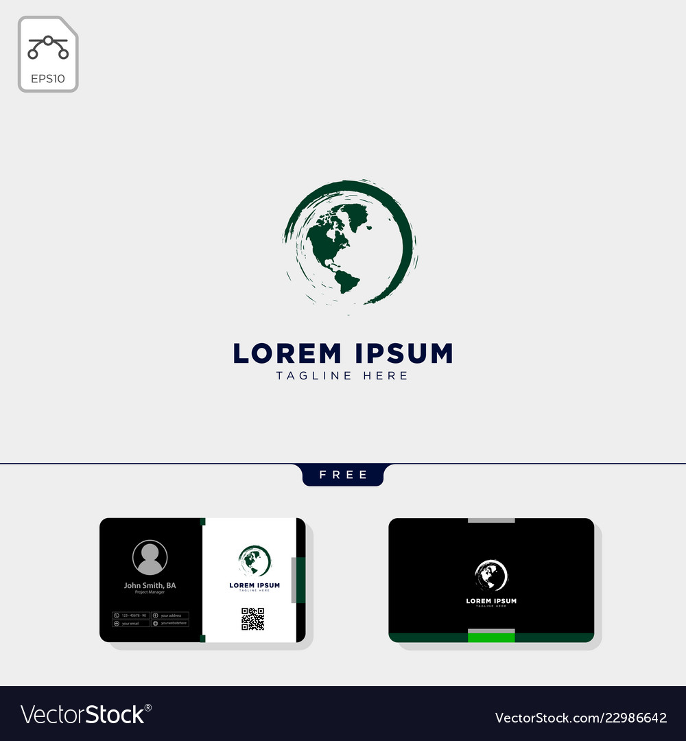 Globe nature logo template and get free business